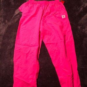 Pants - NEON PINK WIND BREAKER/BEACH PANTS